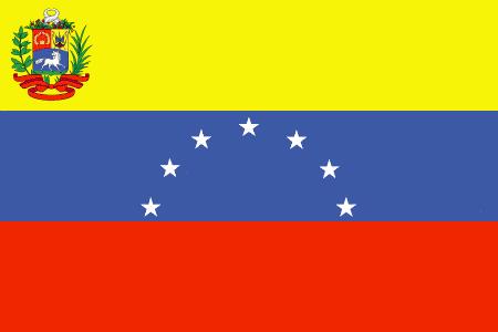 La bandera de Venezuela está