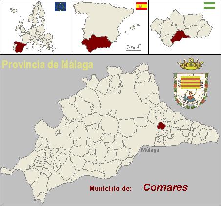 Localización del municipio de Comares