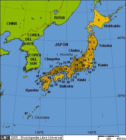 División administrativa de Jap...