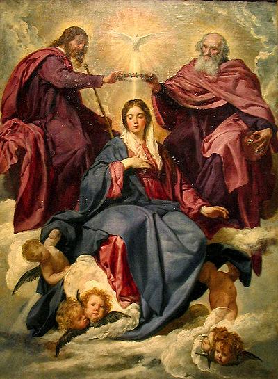 La coronación de la Virgen ampliada