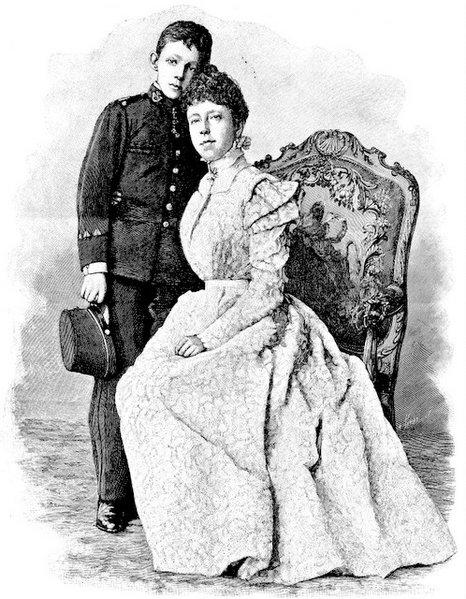 alfonso XIII el niño rey, y su madre
