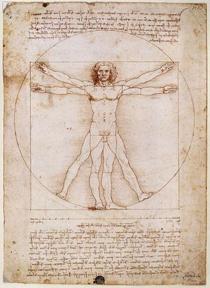 Hombre de Vitruvio. Artículo de la Enciclopedia.